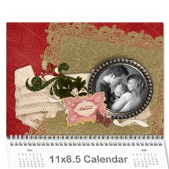 Family   Blessed Any Theme   Floral Wall Calendar By Mikki   Wall Calendar 11  X 8 5  (12 Months)   7dh8cnli6d1x   Www Artscow Com Cover