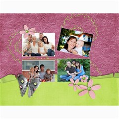 Family   Blessed Any Theme   Floral Wall Calendar By Mikki   Wall Calendar 11  X 8 5  (12 Months)   7dh8cnli6d1x   Www Artscow Com Month