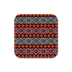 Aztec Mayan Inca Pattern 7 Rubber Coaster (square)  by Cveti