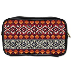 Aztec Mayan Inca Pattern 7 Toiletries Bags 2 Side by Cveti