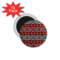 Aztec Mayan Inca Pattern 7 1 75  Magnets (10 Pack)  by Cveti