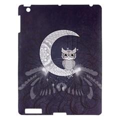 Mandala, Cute Owl On The Moon Apple Ipad 3/4 Hardshell Case by FantasyWorld7