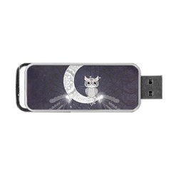 Mandala, Cute Owl On The Moon Portable Usb Flash (one Side) by FantasyWorld7