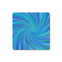 Blue Background Spiral Swirl Square Magnet by Celenk