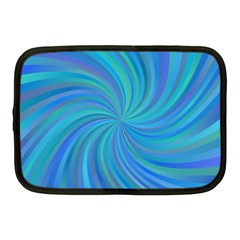 Blue Background Spiral Swirl Netbook Case (medium)  by Celenk