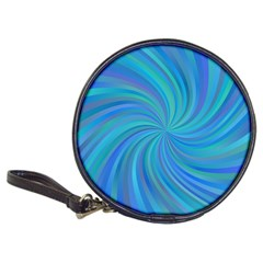 Blue Background Spiral Swirl Classic 20 Cd Wallets by Celenk