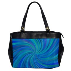 Blue Background Spiral Swirl Office Handbags by Celenk
