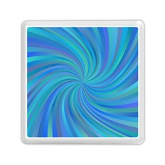 Blue Background Spiral Swirl Memory Card Reader (square)  by Celenk