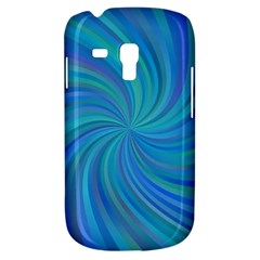 Blue Background Spiral Swirl Galaxy S3 Mini by Celenk