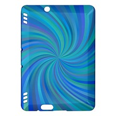 Blue Background Spiral Swirl Kindle Fire Hdx Hardshell Case by Celenk