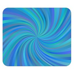 Blue Background Spiral Swirl Double Sided Flano Blanket (small)  by Celenk