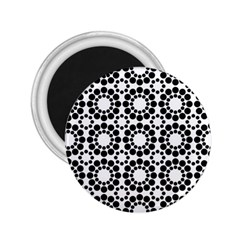 Black White Pattern Seamless Monochrome 2 25  Magnets by Celenk