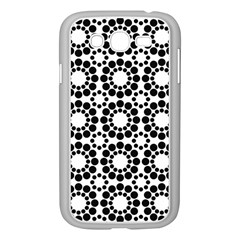 Black White Pattern Seamless Monochrome Samsung Galaxy Grand Duos I9082 Case (white) by Celenk