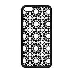 Black White Pattern Seamless Monochrome Apple Iphone 5c Seamless Case (black) by Celenk