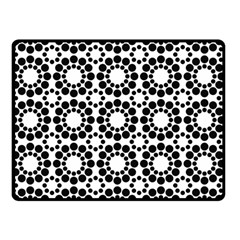 Black White Pattern Seamless Monochrome Double Sided Fleece Blanket (small)