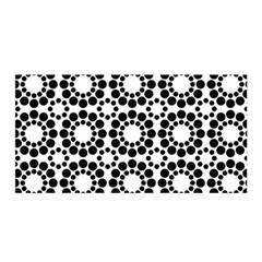 Black White Pattern Seamless Monochrome Satin Wrap by Celenk