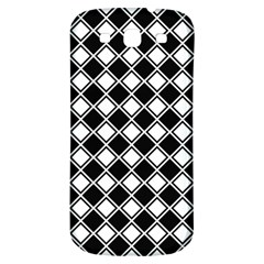 Black White Square Diagonal Pattern Seamless Samsung Galaxy S3 S Iii Classic Hardshell Back Case by Celenk
