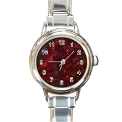 Abstract Fantasy Color Colorful Round Italian Charm Watch by Celenk