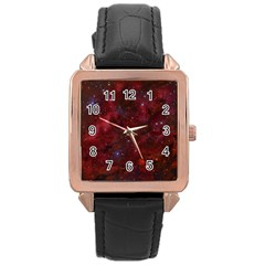 Abstract Fantasy Color Colorful Rose Gold Leather Watch  by Celenk