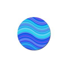Blue Background Water Design Wave Golf Ball Marker by Celenk