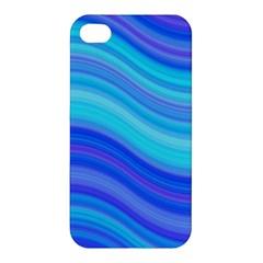 Blue Background Water Design Wave Apple Iphone 4/4s Premium Hardshell Case by Celenk