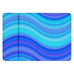 Blue Background Water Design Wave Samsung Galaxy Tab 8 9  P7300 Flip Case by Celenk