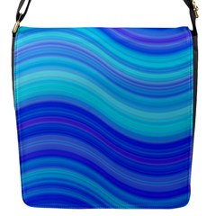 Blue Background Water Design Wave Flap Messenger Bag (s) by Celenk