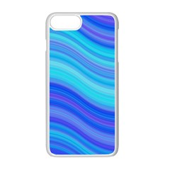 Blue Background Water Design Wave Apple Iphone 7 Plus Seamless Case (white)