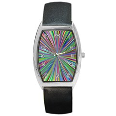 Burst Colors Ray Speed Vortex Barrel Style Metal Watch by Celenk