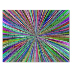 Burst Colors Ray Speed Vortex Rectangular Jigsaw Puzzl by Celenk