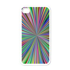 Burst Colors Ray Speed Vortex Apple Iphone 4 Case (white) by Celenk