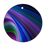 Background Abstract Curves Round Ornament (Two Sides) Front