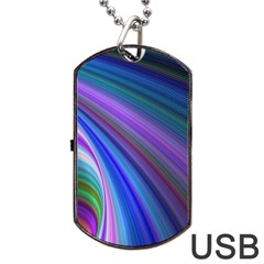Background Abstract Curves Dog Tag Usb Flash (one Side) by Celenk