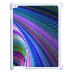 Background Abstract Curves Apple Ipad 2 Case (white) by Celenk