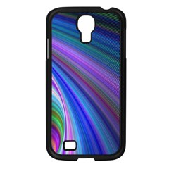 Background Abstract Curves Samsung Galaxy S4 I9500/ I9505 Case (black) by Celenk