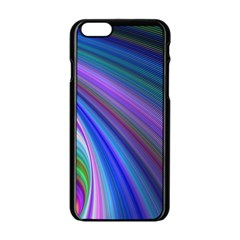 Background Abstract Curves Apple Iphone 6/6s Black Enamel Case by Celenk