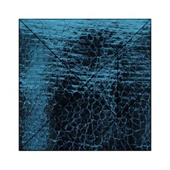 Blue Black Shiny Fabric Pattern Acrylic Tangram Puzzle (6  X 6 ) by Celenk