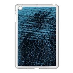 Blue Black Shiny Fabric Pattern Apple Ipad Mini Case (white) by Celenk