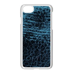 Blue Black Shiny Fabric Pattern Apple Iphone 8 Seamless Case (white) by Celenk