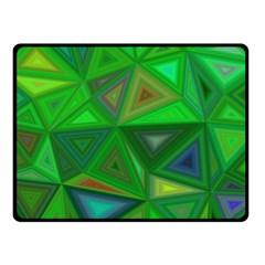 Green Triangle Background Polygon Fleece Blanket (small) by Celenk