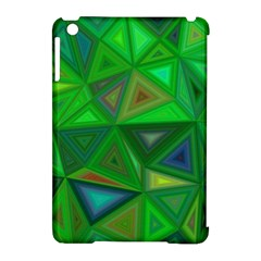 Green Triangle Background Polygon Apple Ipad Mini Hardshell Case (compatible With Smart Cover) by Celenk