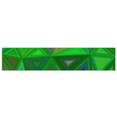 Green Triangle Background Polygon Small Flano Scarf by Celenk