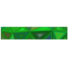 Green Triangle Background Polygon Large Flano Scarf  by Celenk
