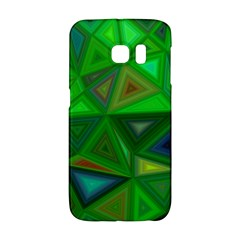 Green Triangle Background Polygon Galaxy S6 Edge by Celenk