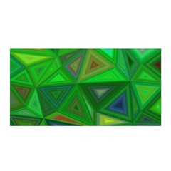 Green Triangle Background Polygon Satin Wrap by Celenk