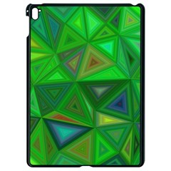 Green Triangle Background Polygon Apple Ipad Pro 9 7   Black Seamless Case by Celenk