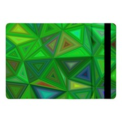 Green Triangle Background Polygon Apple Ipad Pro 10 5   Flip Case by Celenk