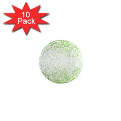 Green Square Background Color Mosaic 1  Mini Magnet (10 Pack)  by Celenk