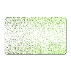 Green Square Background Color Mosaic Magnet (rectangular) by Celenk