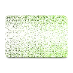 Green Square Background Color Mosaic Plate Mats by Celenk
